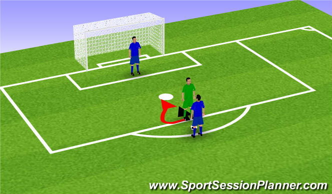Football/Soccer Session Plan Drill (Colour): Through the legs
