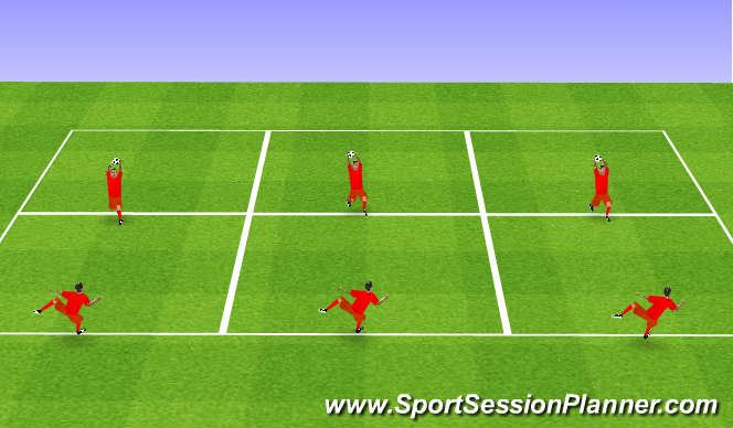 Football/Soccer Session Plan Drill (Colour): Agility with ball