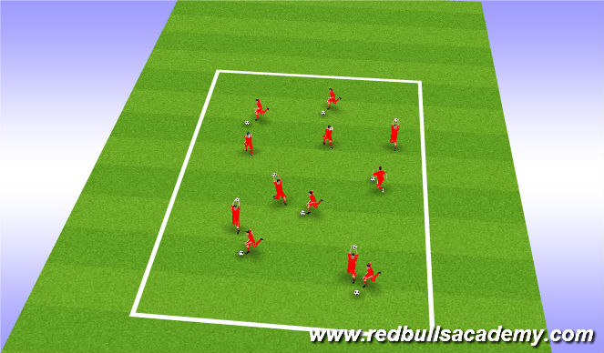 Football/Soccer Session Plan Drill (Colour): Splatter Bug