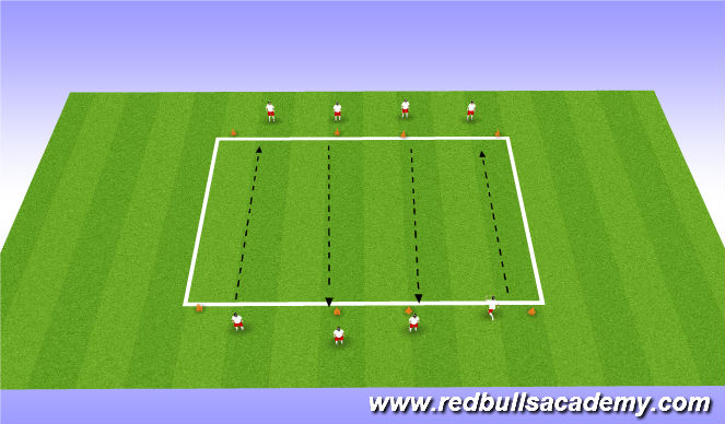 Football/Soccer Session Plan Drill (Colour): Practice2