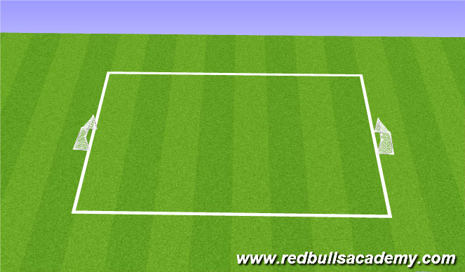 Football/Soccer Session Plan Drill (Colour): 6v6 game.