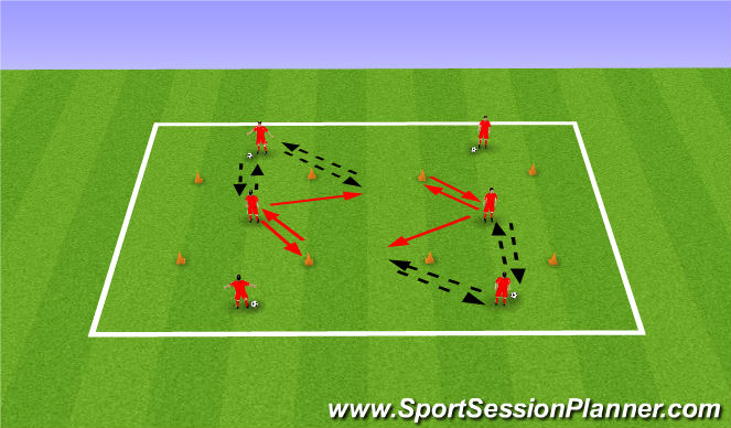 Football/Soccer Session Plan Drill (Colour): Passing Practice 3