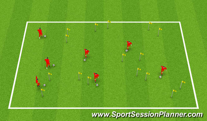 Football/Soccer Session Plan Drill (Colour): Individual Technical work