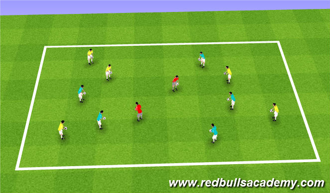 Football/Soccer Session Plan Drill (Colour): Juggling / Pop challenge