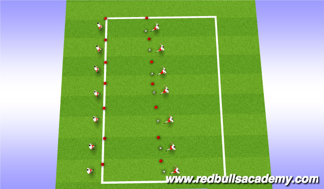 Football/Soccer Session Plan Drill (Colour): Make a 10