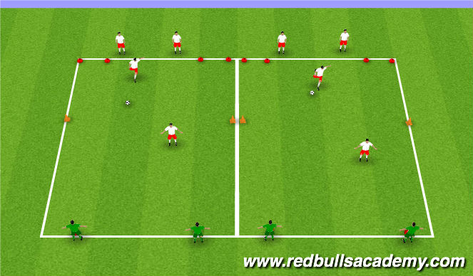 Football/Soccer Session Plan Drill (Colour): Team Play