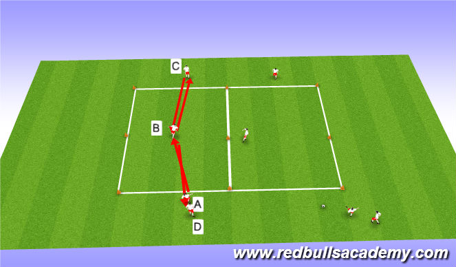 Football/Soccer Session Plan Drill (Colour): MessiRonaldo/Warmup