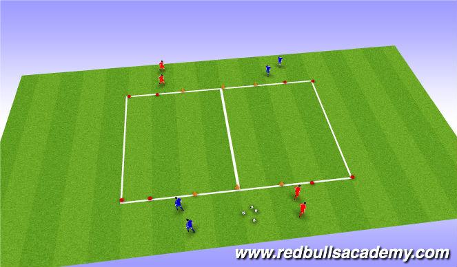Football/Soccer Session Plan Drill (Colour): 1v1
