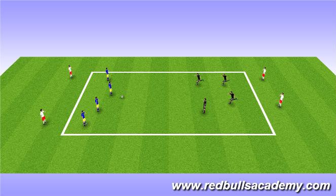 Football/Soccer Session Plan Drill (Colour): 4v4 targets