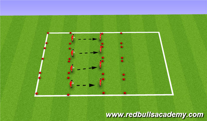 Football/Soccer Session Plan Drill (Colour): toss and trap