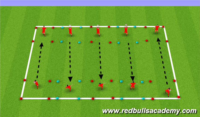 Football/Soccer Session Plan Drill (Colour): Toss and Trap 2