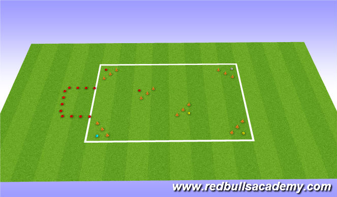 Football/Soccer Session Plan Drill (Colour): Fire fight