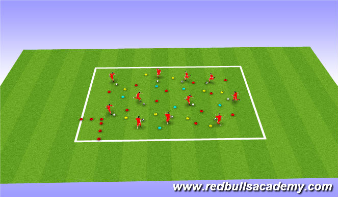 Football/Soccer Session Plan Drill (Colour): Find the equipment