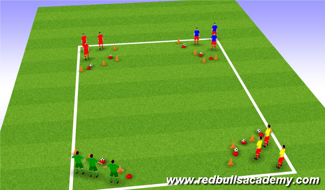 Football/Soccer Session Plan Drill (Colour): wrecking ball
