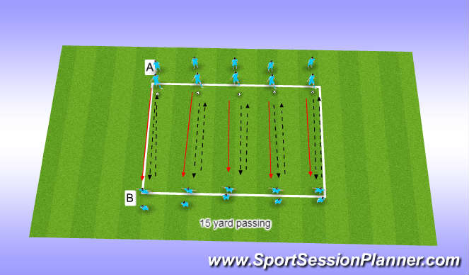 Football/Soccer Session Plan Drill (Colour): follow the pass