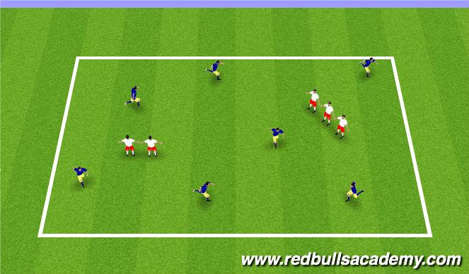 Football/Soccer Session Plan Drill (Colour): MINI KICK