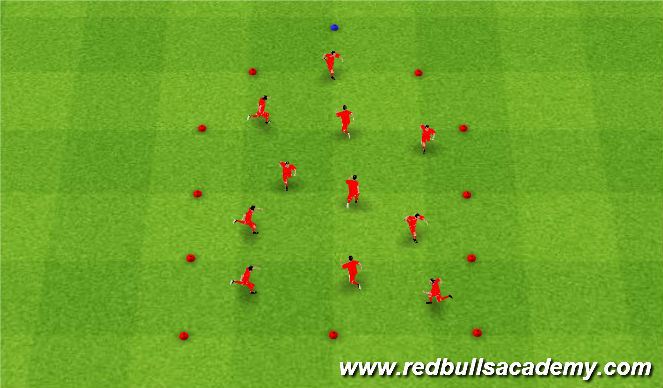 Football/Soccer Session Plan Drill (Colour): Under the sea Without Ball