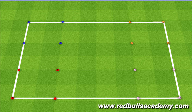Football/Soccer Session Plan Drill (Colour): Under the sea Four Corners