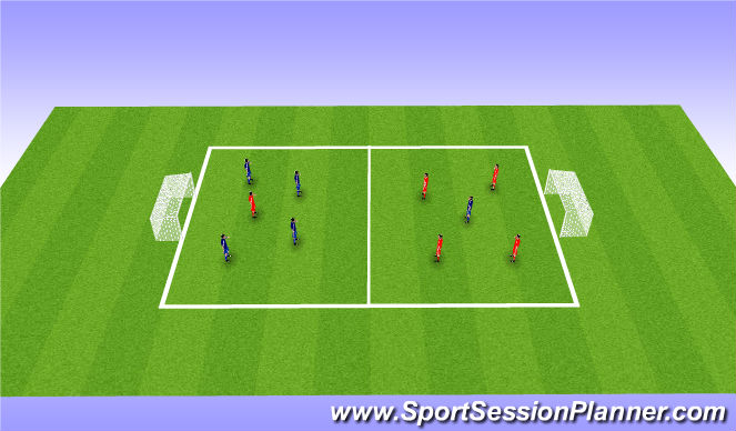 Football/Soccer Session Plan Drill (Colour): Set + finish