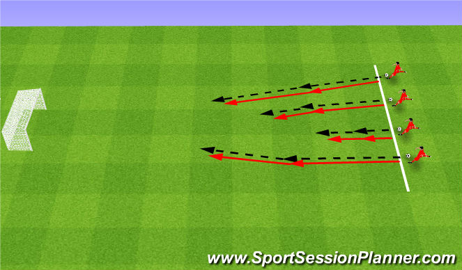 Football/Soccer Session Plan Drill (Colour): Kto dalej?