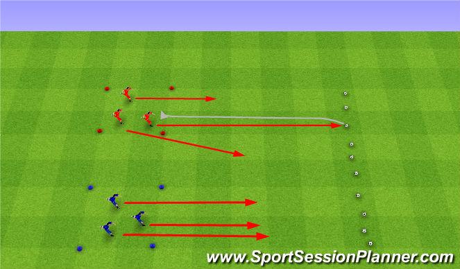 Football/Soccer Session Plan Drill (Colour): Egg hunt. Szukanie jajek.