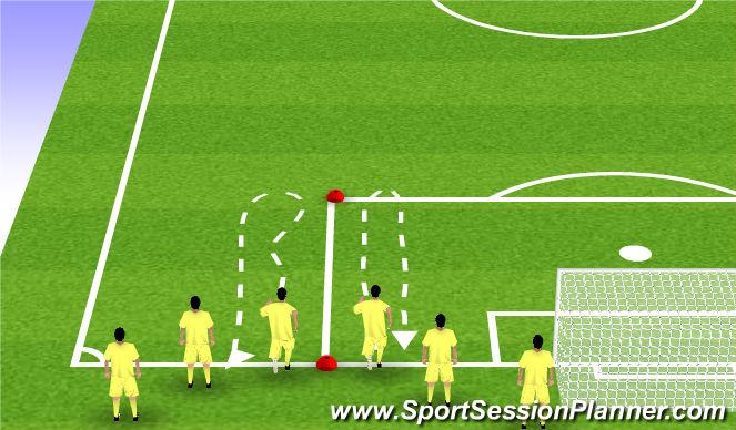 Football/Soccer Session Plan Drill (Colour): rozgrzewka ogólnorozwojowa