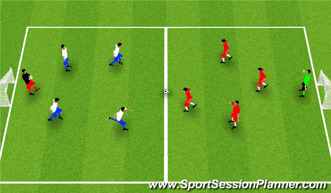 Football/Soccer Session Plan Drill (Colour): GAME TIME!!