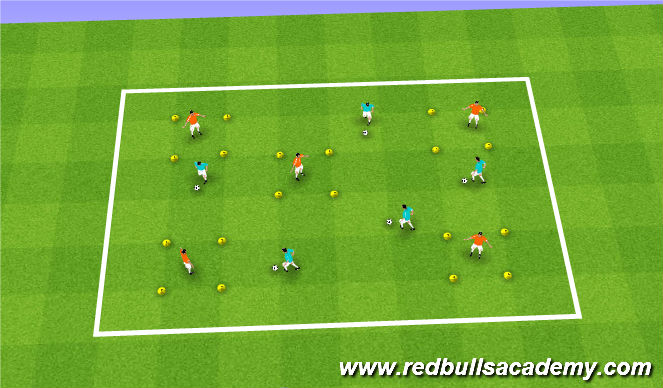 Football/Soccer Session Plan Drill (Colour): Castles