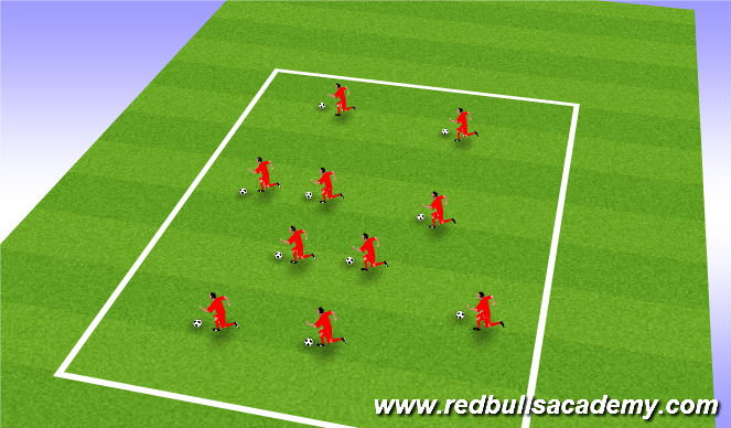 Football/Soccer Session Plan Drill (Colour): free grid