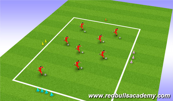 Football/Soccer Session Plan Drill (Colour): i spy