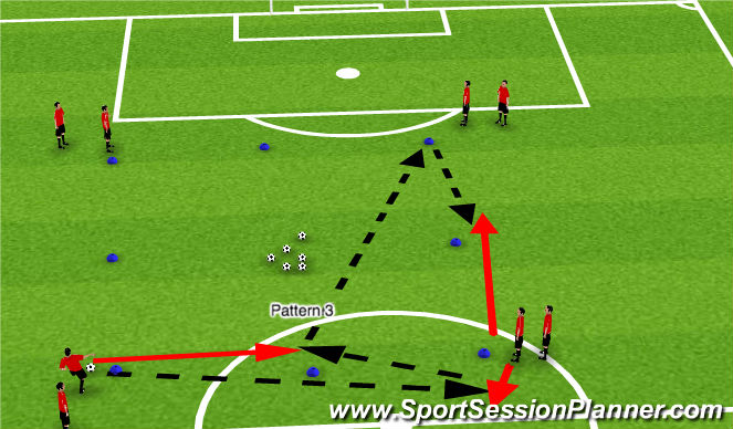 Football/Soccer Session Plan Drill (Colour): Passing Square 3