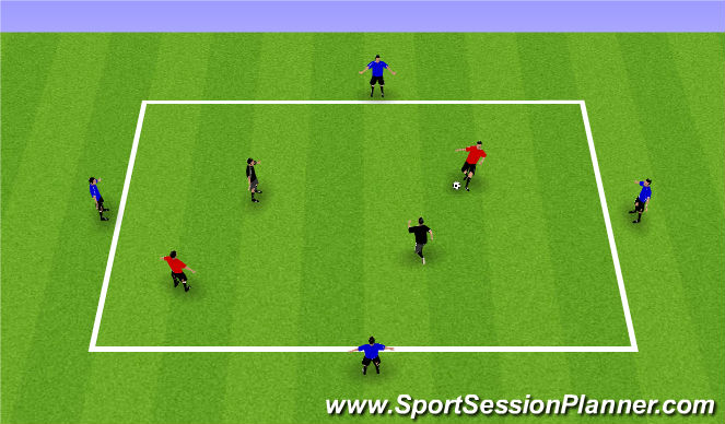 Football/Soccer Session Plan Drill (Colour): Support Rondo