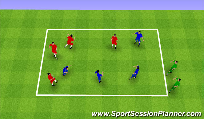 Football/Soccer Session Plan Drill (Colour): Spiderman