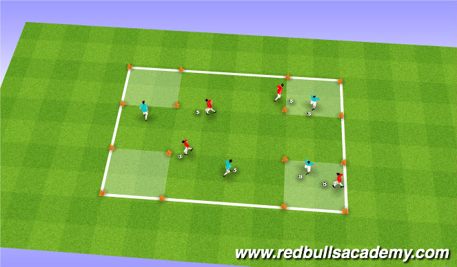 Football/Soccer Session Plan Drill (Colour): First Day of School