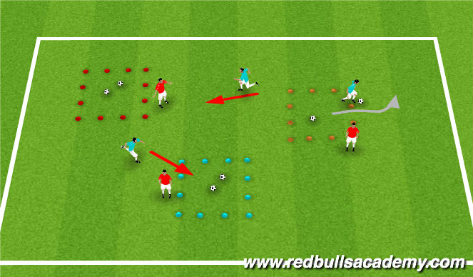 Football/Soccer Session Plan Drill (Colour): Jacques vs. the other Fish