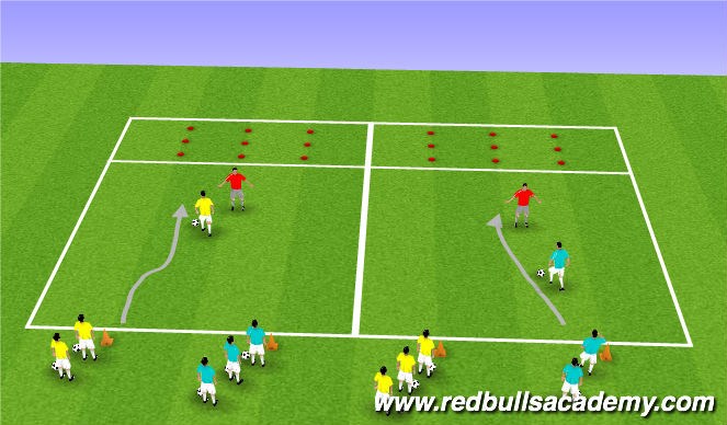 Football/Soccer Session Plan Drill (Colour): Where's Nemo?