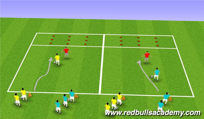 Football/Soccer Session Plan Drill (Colour): Where's Nemo?