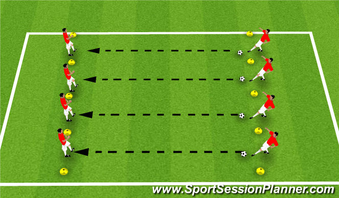 Football/Soccer Session Plan Drill (Colour): Basic Passing and Receiving