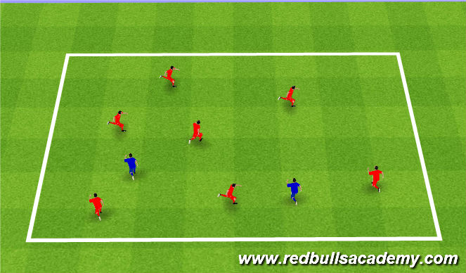 Football/Soccer Session Plan Drill (Colour): Banana Tag