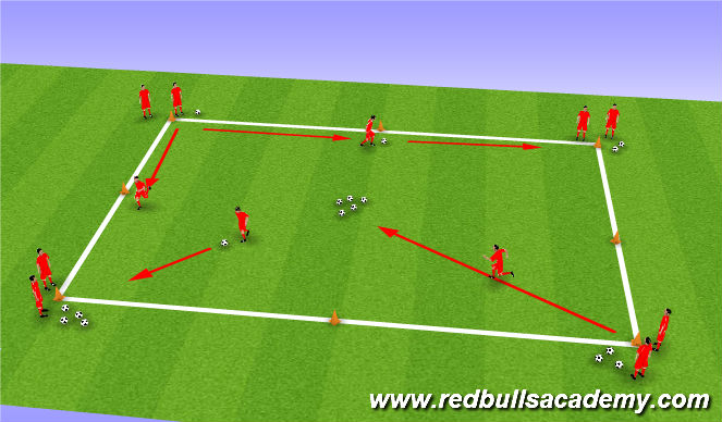 Football/Soccer Session Plan Drill (Colour): Treasure Island 2