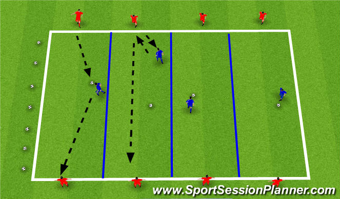 Football/Soccer Session Plan Drill (Colour): Pass & Recieve