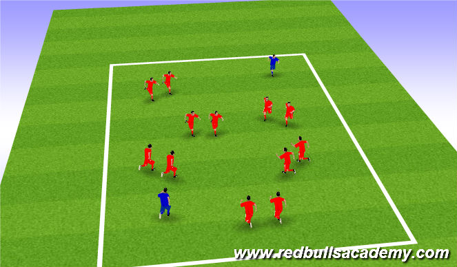 Football/Soccer Session Plan Drill (Colour): woody's round up