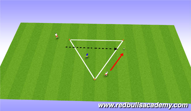 Football/Soccer Session Plan Drill (Colour): Semi-opposed pressure