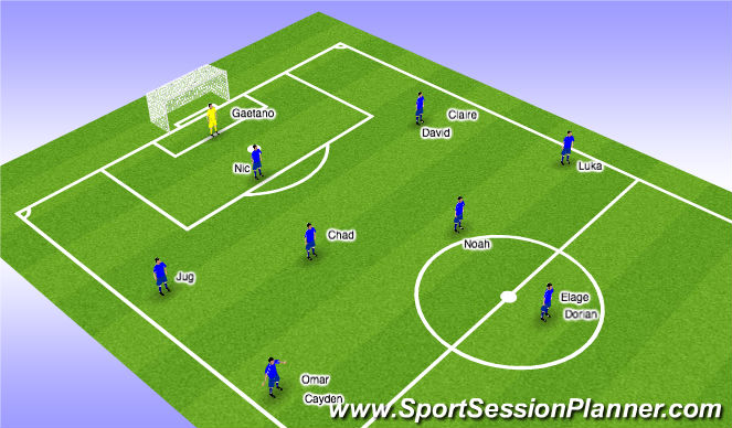 Football/Soccer Session Plan Drill (Colour): 2004 Lineup