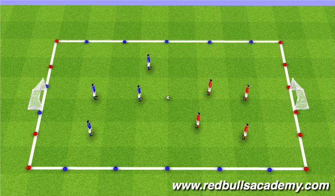 Football/Soccer Session Plan Drill (Colour): GAME 4