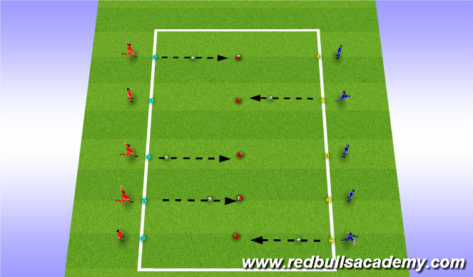 Football/Soccer Session Plan Drill (Colour): technical school