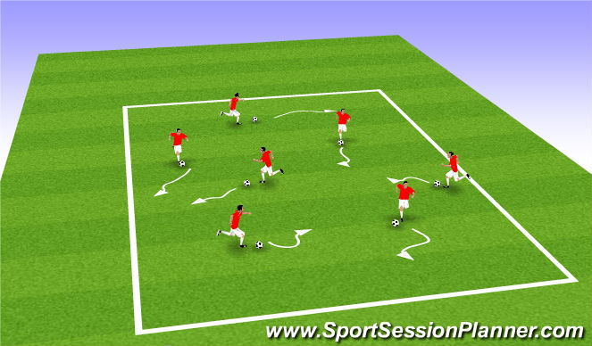 Football/Soccer Session Plan Drill (Colour): ABCs square
