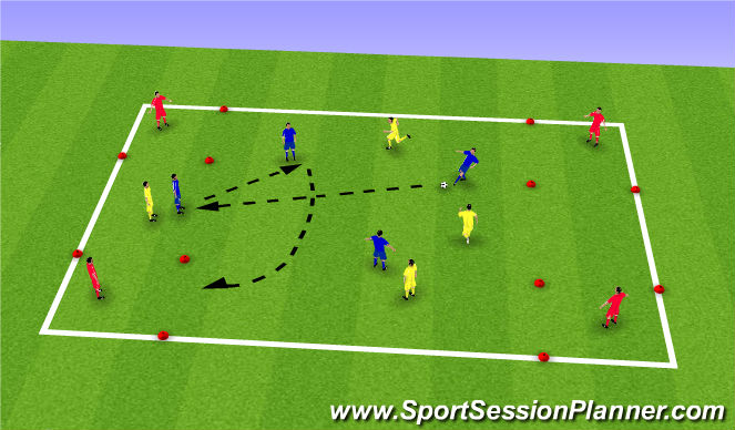 Football/Soccer Session Plan Drill (Colour): 4v4 target game