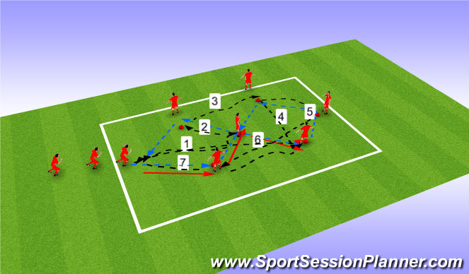 Football/Soccer Session Plan Drill (Colour): diamond warm up(10 min)