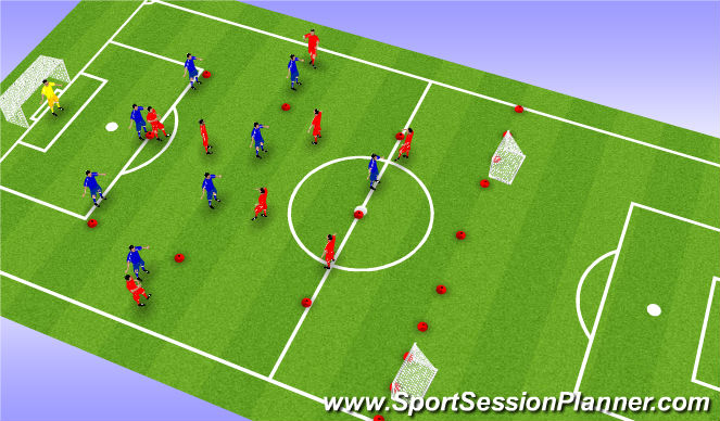 Football/Soccer Session Plan Drill (Colour): SSG (15-20 mins)